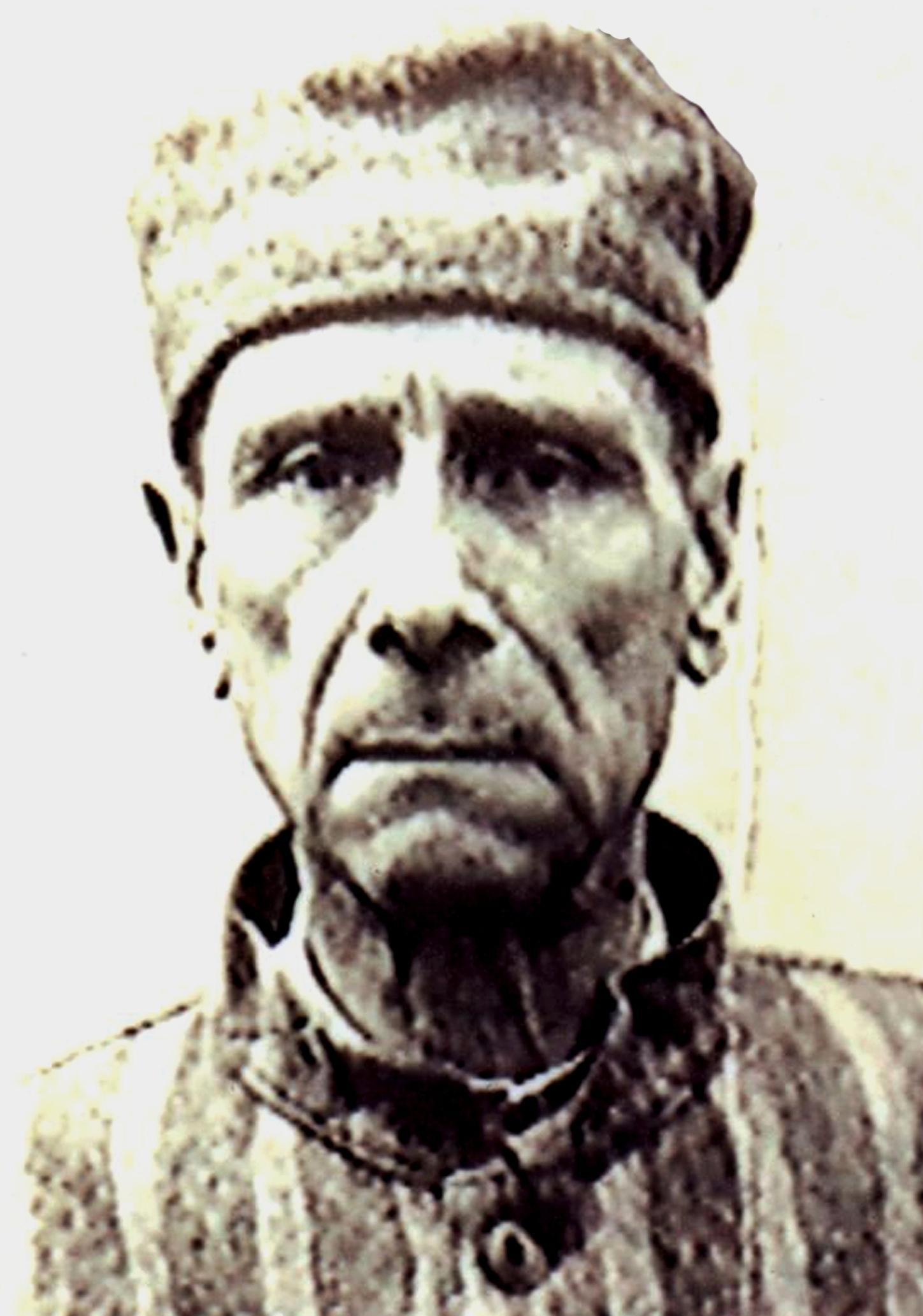 Iuliu Hossu , fotografie făcută în perioada detenției de la Sighet