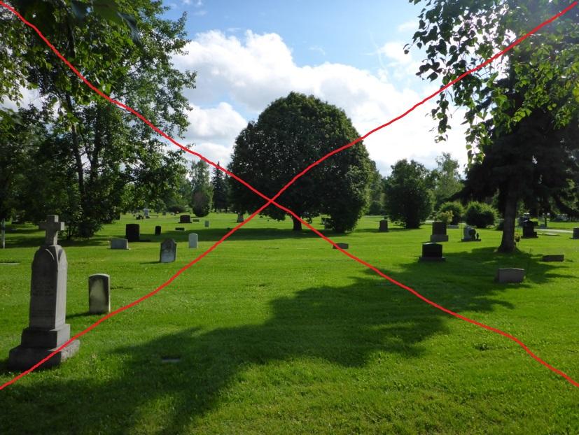 Exclus așa ceva în Cluj, proictnții si primaria vor morminte înghesuite și BETOANE!!!!!!!!! (sursa foto: Anchorage Memorial Park -en.wikipedia.org)